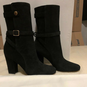 New Theory Women's High Heel Suede Boots 38.5 8.5
